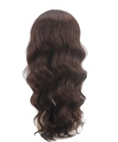 NATURAL smooth braizilian hair swiss lace front wigs with division parting tangle free soft wave lace wig human hair