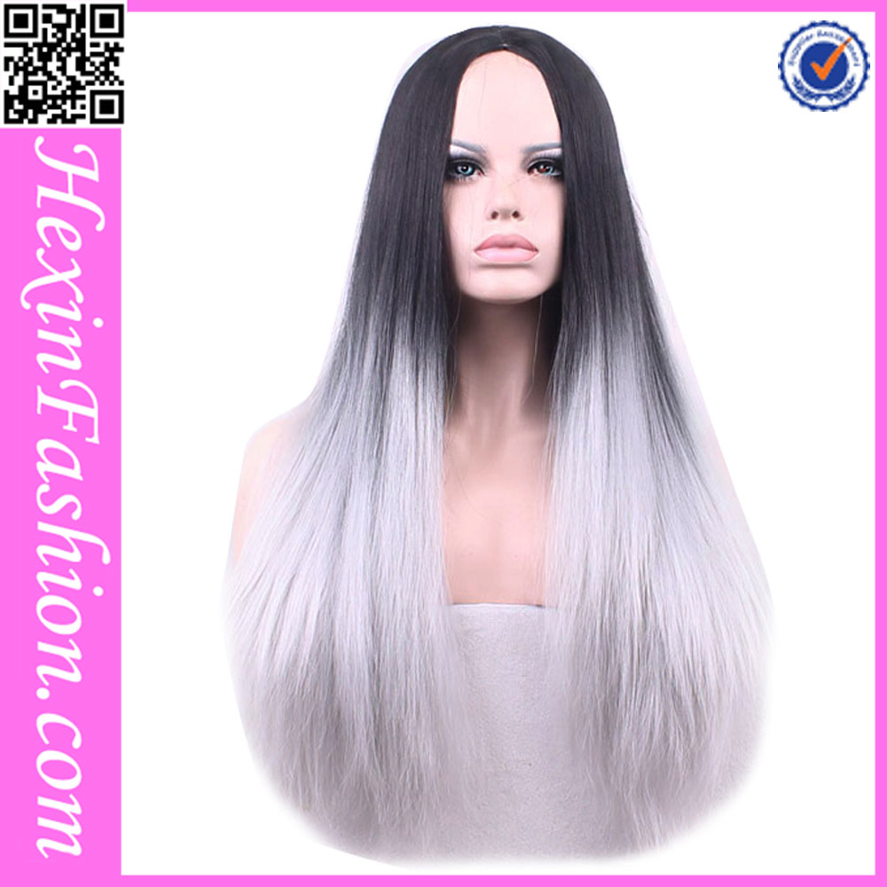 No MOQ Limited Ombre Grey Practice Wig Wholesale