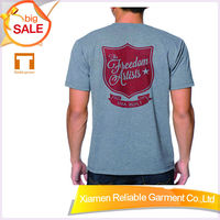 100% cotton t shirts for men/ cheap t shirt made in france