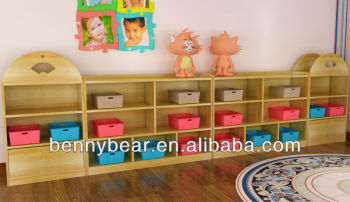 Nursery School Wooden Toy Storage Cabinets