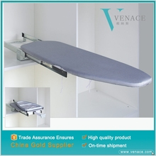 Metal foldable wall mounted soft close ironing board for wardrobe in cabinet