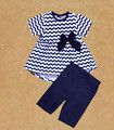 New style child stripe printing suit