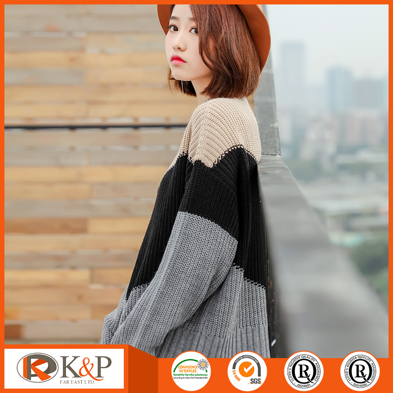 Latest new style customized acrylic cardigans sweaters