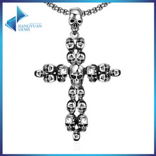 316L wholesale skull stainless necklace