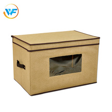 Wholesale Foldable Closet Cube Box Nursery Fabrics Line Storage Basket Stackable Fabric Storage Bin with Lid