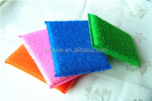 polyester fabric sponge scrubber for kitchen