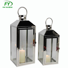 Home Decoration Stainless Steel Candle Lantern For Party