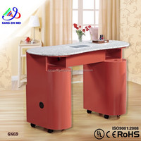 Hot sale white simple nail table folding/beauty nail table/nail dust collector for table KM-HN6869