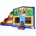power hero inflatable combo slide range, toddlers bounce house