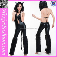 wholesale black cat furry women sexy animal costumes