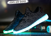 2016 most popular USB led shoes color change led light shoes