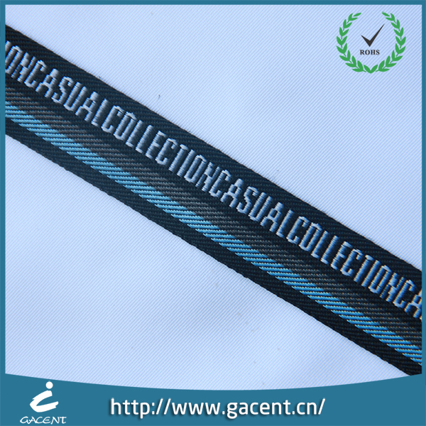 Factory sale colorful customized logo jacquard nylon ribbon