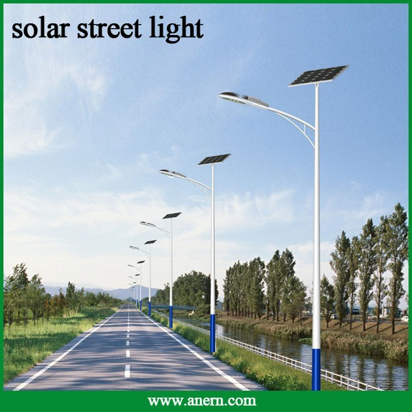 lowest price CE RoHS 5m high luminance 30w solar street lights