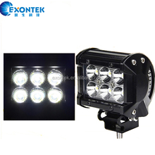 2018 Hot sale 4X4 accessories 4 inch 4WD offroad 12V 24V JEEP Wrangler Truck ATV CREES 18W led work light bar Driving Fog lamp