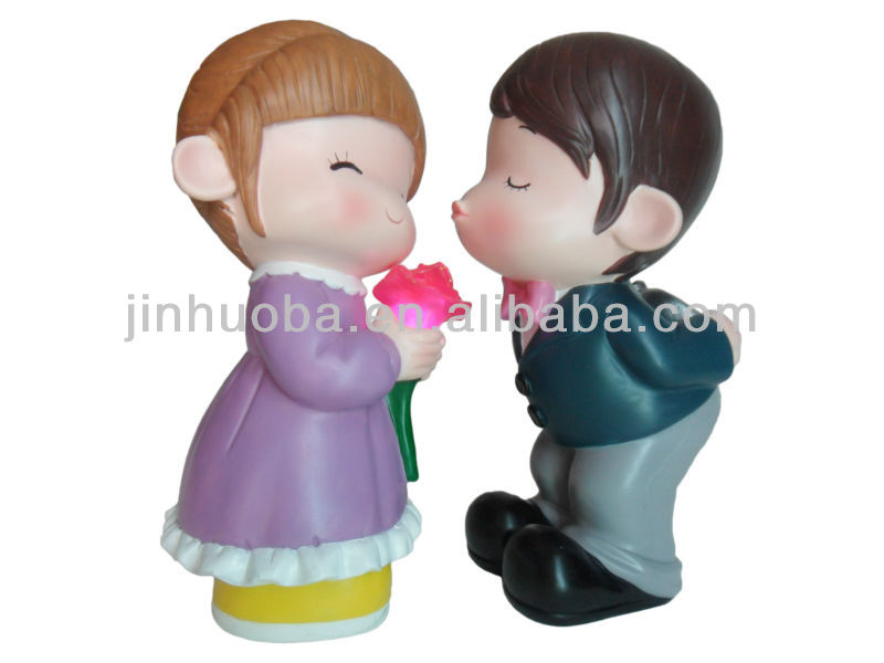 Welcome custom polyresin wedding couple figurine