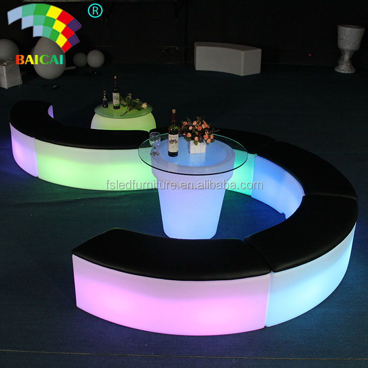 Portable LED Furniture LED Table LED Chairs Light Up Sofa Lounge Bar Sofa