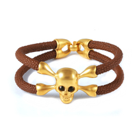 Wholesale Luxury Brighton Stainless Steel Skull Premier Designs Bracelet Jewelry
