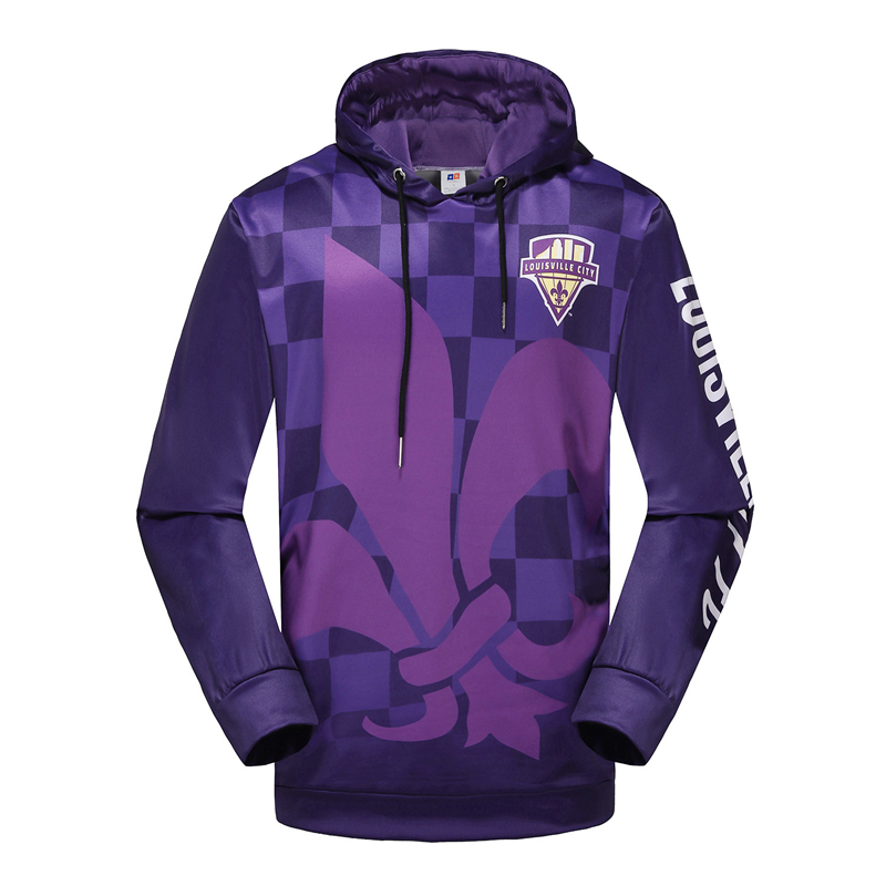 customize sublimation pullover fleece gym hoodie