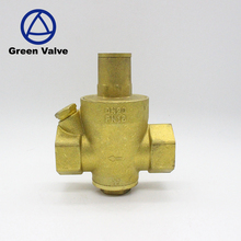 Green-GutenTop forged PN16 brass limited pressure reducing regulate valve air steam double male thread cw617n relief valve