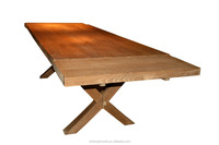 Hot Sales European Style Antique Oak Extention Dining Table