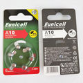 Eunicell brand Good quality zinc air battery 1.4v buton cell battery A10 A13 A312 A675