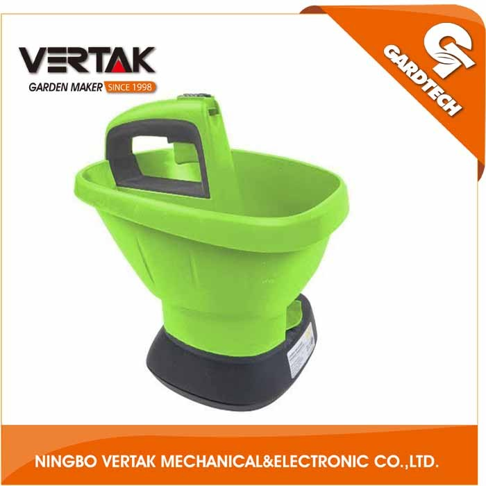 6v electric cordless lawn grass seed spreader,electric fertilizer spreader
