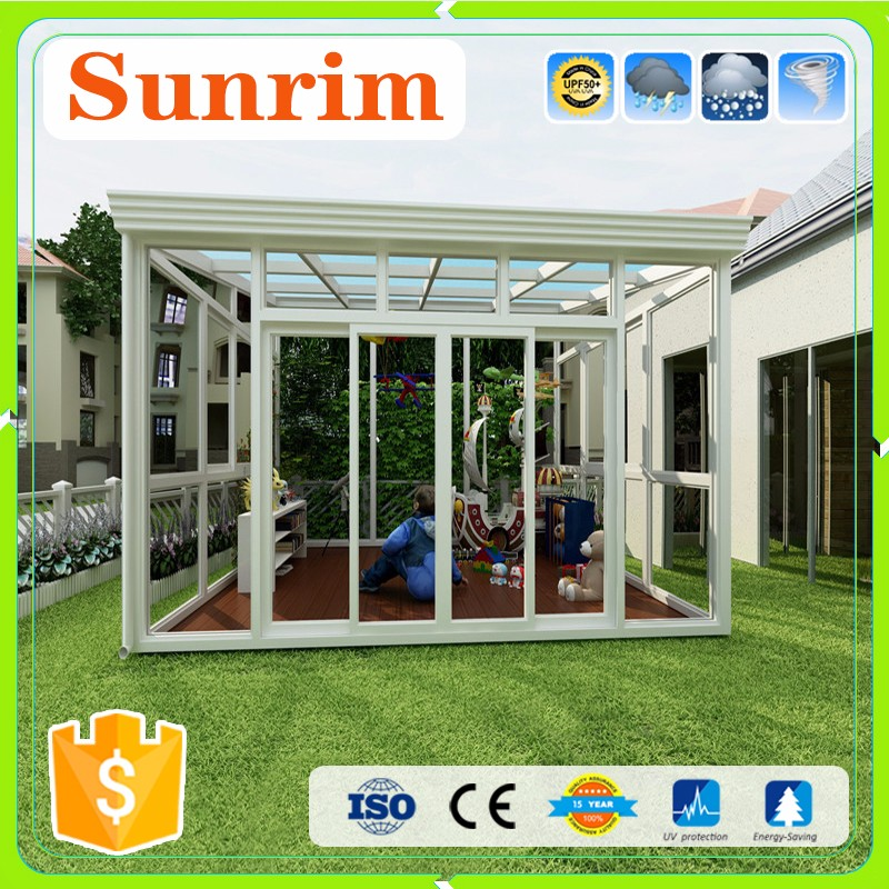 double tempered glass curved conservatory sunroom manufacturer
