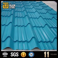 Prepainted galvanized steel corrugated roof panel / sheet insulated 836mm , 0.2 - 0.6mm