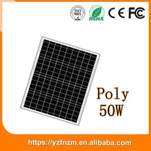 china facory solar panel price list 50w poly with CE ROSH PCC