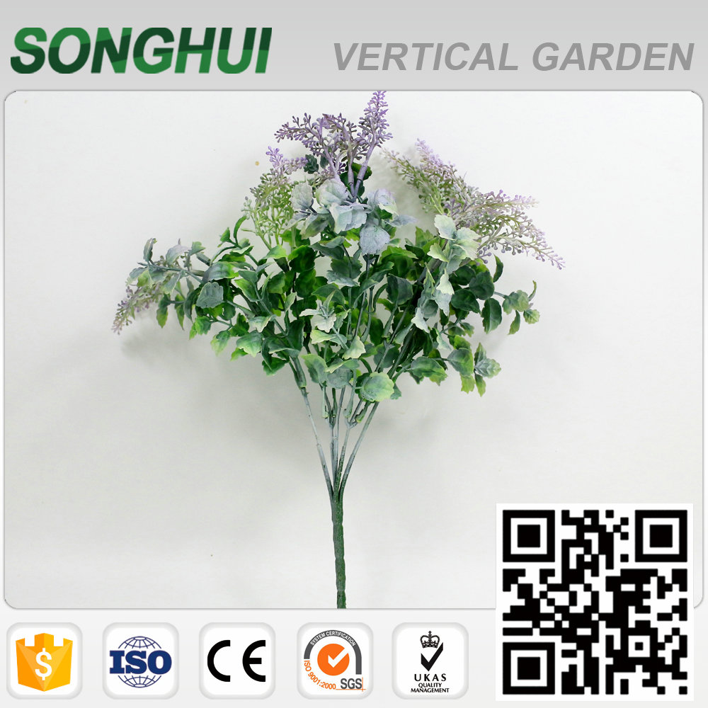 excellent touched artificial fabric spray with plastic leaves for sale