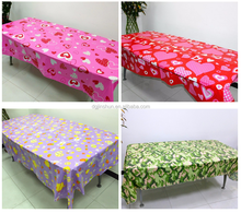 Custom design trade show fitted plastic table cover