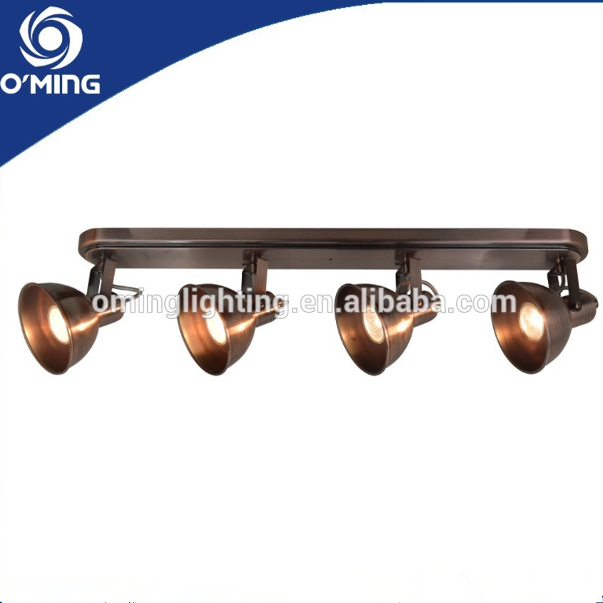 4 heads vintage industrial bronze track lighting ceiling lights spotlight led
