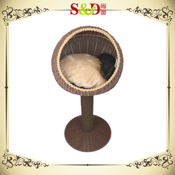 S&D Low price handmade woven rattan dog kennel