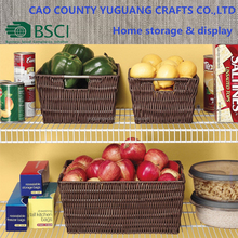 PE Woven Plastic Storage Bin Basket for Market Organizing
