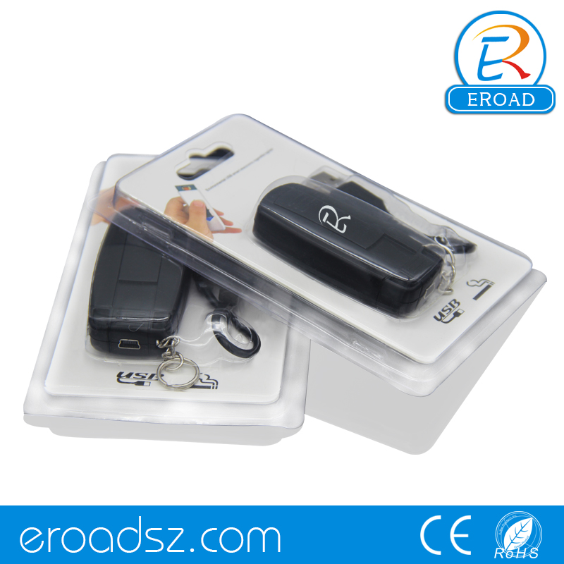 Eroad customized logo Additional coil ingnition car shaped keychain electric lighter