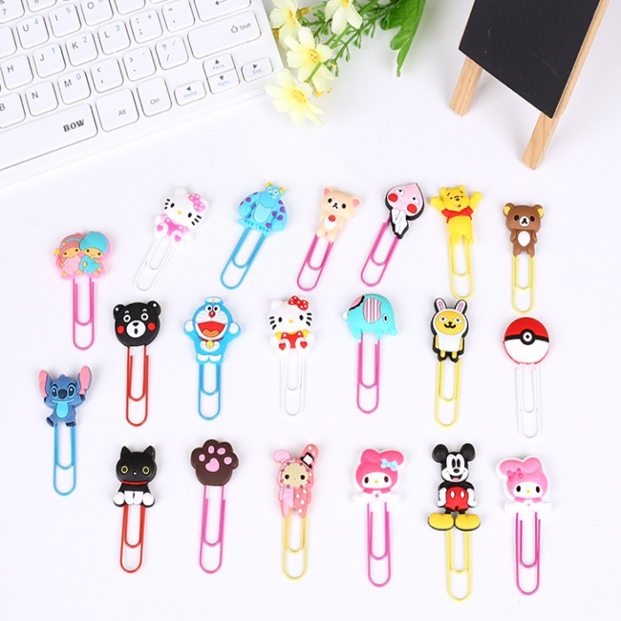 good advertising animal shaped decorative bookmark paper clips