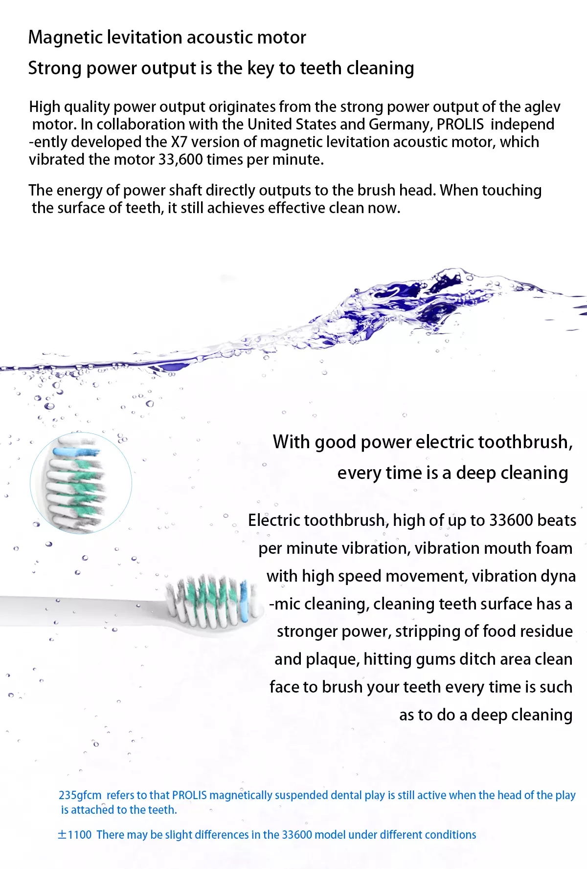 Oral Hygiene Ultra High Powered Rechargeable Electric Ultrasonic Toothbrush