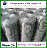High quality electro/hot dipped galvanized wire mesh 1/4'' 1/2'' 3/4''1'' 2'' 4''(Anping factory, 22 years )
