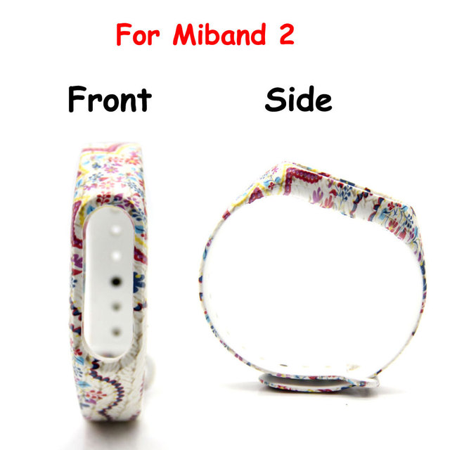 For Mi Band 2 Strap Latest Flower Printed Replacement Strap For Miband 2  Silicone Shell Strap for Mi Band 2 Wristband