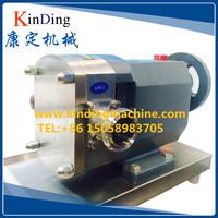 Sanitary stainless steel rotary lobe pump for chocolate/dairy/jam/honey
