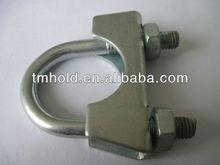 stainless steel u types saddle of pipe clips with m8 nuts for automobile