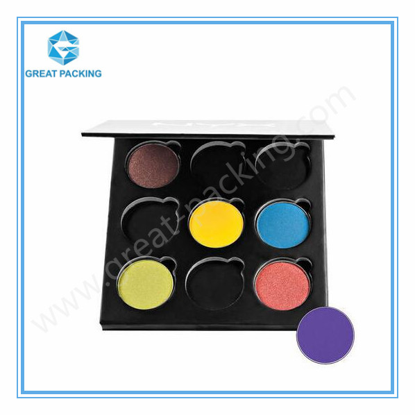 China Butterfly Paper Empty Magnetic Makeup Palette cosmetic packaging for makeup palette