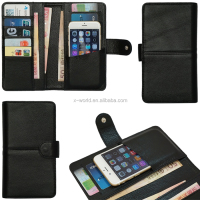Genuine Leather Wallet Case for Mobile Phone,Cards and Money,Super Slim Design