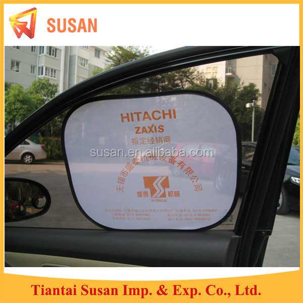 screen printing foldable customized side window car sunshade