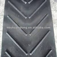 Open V Chevron Rubber Conveyor Belt