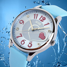 Low price fashion leather strap lady watch shopping online
