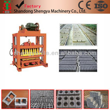 QTJ4-40 price cement hollow brick making machine for sale, paver brick machine in kenya
