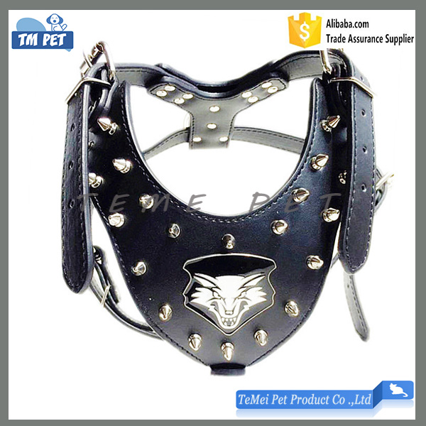 Wholesale PU Leather Spiked Studded Harness for <strong>Dog</strong>