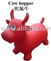 Inflatable hopper cow