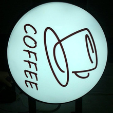 Waterproof and hign quality famous front top door sign wall mounted 3D Acrylic LED illuminated advertising light box coffe bar